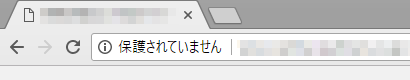 警告表示Google Chrome